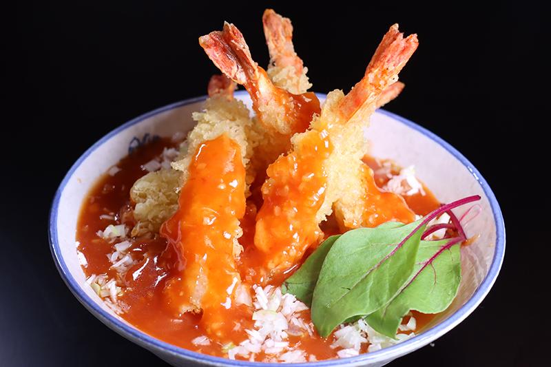 チリソース 天ぷら丼